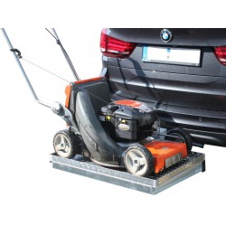 CARGOBOAR Heckträger Premium | 90 x 60 mit Aluminiumwanne | mit Einhebel-Schnellverschluss