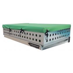 Abdeckplane Heckträger GRÜN | 90 x 60 cm Ladungssicherung